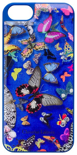 Christian Lacroix - Butterfly puzdro pre Apple iPhone SE/5S/5, modrá
