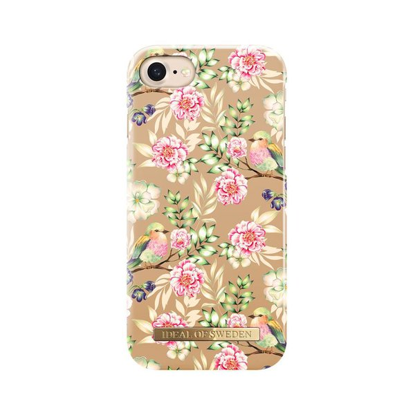 iDeal of Sweden - Puzdro Fashion pre Apple iPhone SE 2020/8/7/6s/6, champagne s motívom