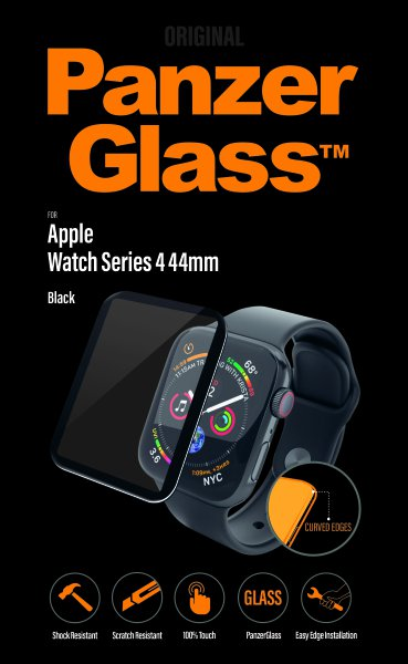PanzerGlass - Tvrdené sklo pre Apple Watch Series 4/5/6/SE 44mm, transparentná