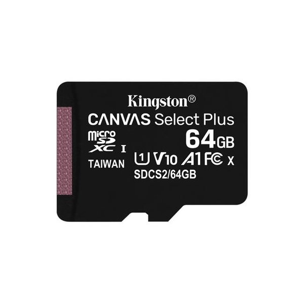 Kingston - microSDXC pamäťová karta Canvas Select Plus A1 CL10 100MB/s, SD adaptér