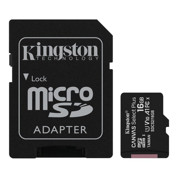 Kingston - microSDXC pamäťová karta Canvas React, 128 GB, SD adaptér