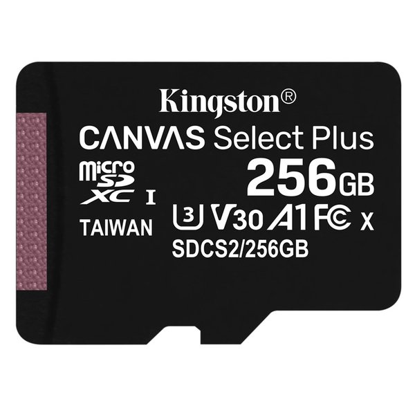 Kingston - microSDXC pamäťová karta Canvas Select Plus A1 CL10 100MB, 256 GB