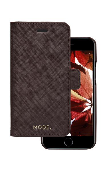 MODE - Puzdro New York pre iPhone SE 2020/8/7, dark chocolate